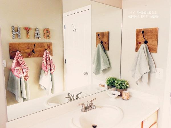 вешалка для полотенец в ванную идеи