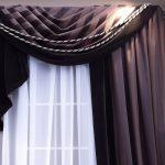 Асимметричная штора с кисточками