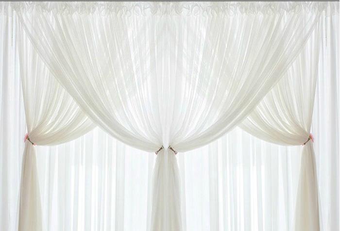 белые шторы из вуали