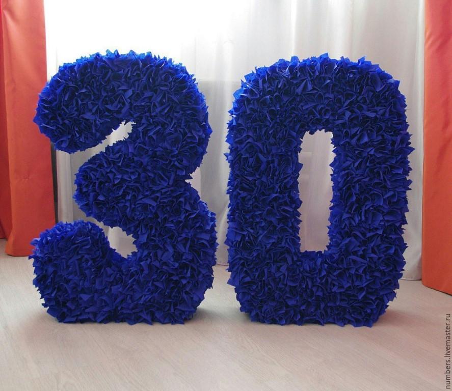 цифры и буквы из салфеток дизайн идеи