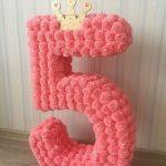 цифры и буквы из салфеток фото декора