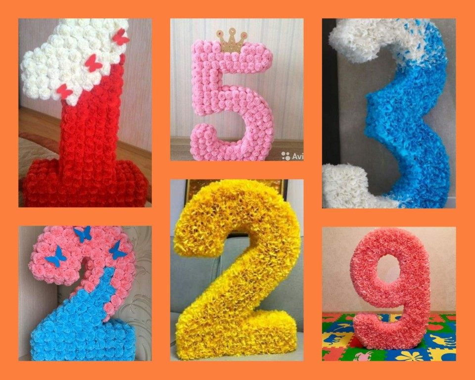 цифры и буквы из салфеток фото дизайн