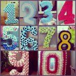 цифры и буквы из салфеток своими руками дизайн декор