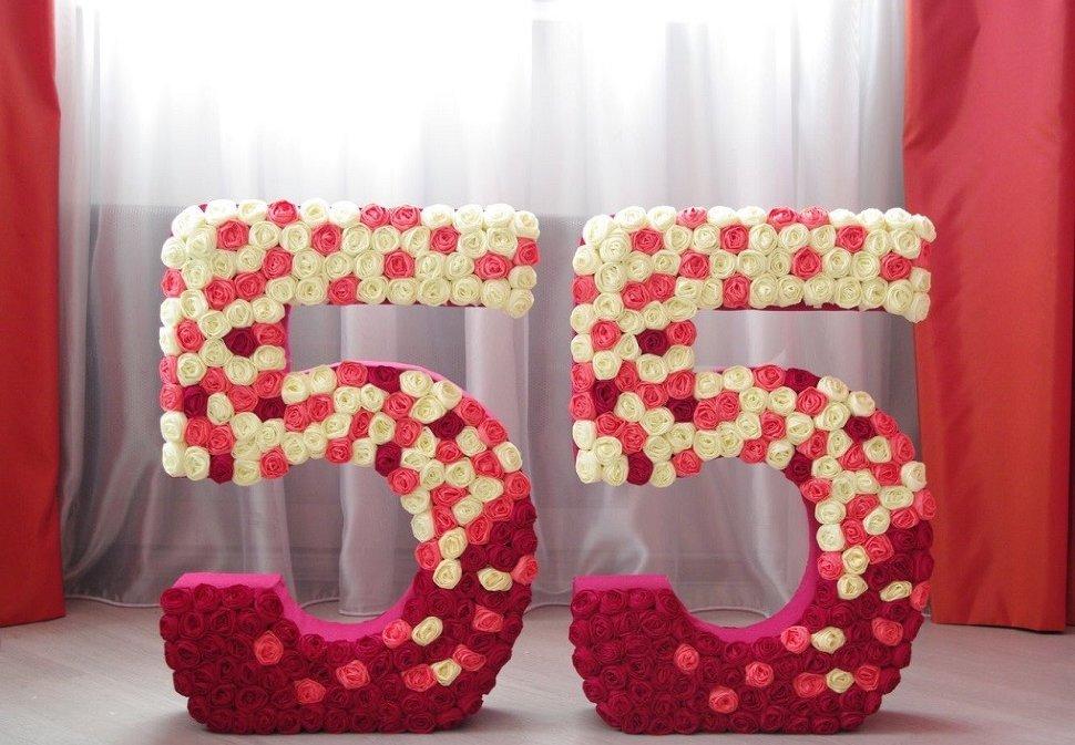 цифры и буквы из салфеток фото декор