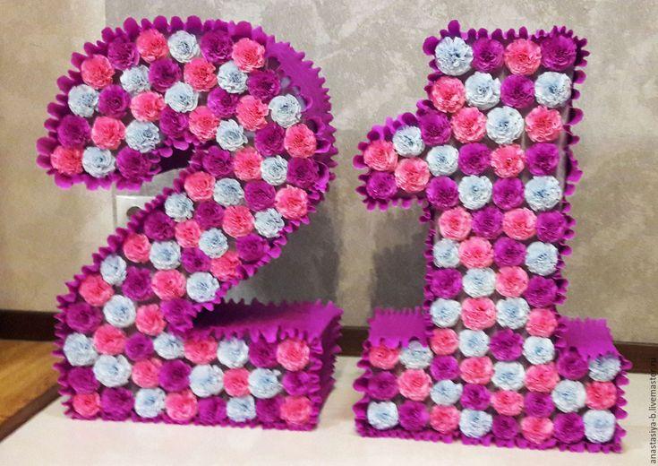 цифры и буквы из салфеток фото дизайна