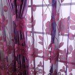 цветной тюль фиолетовый