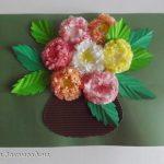 цветы из бумажных салфеток дизайн фото