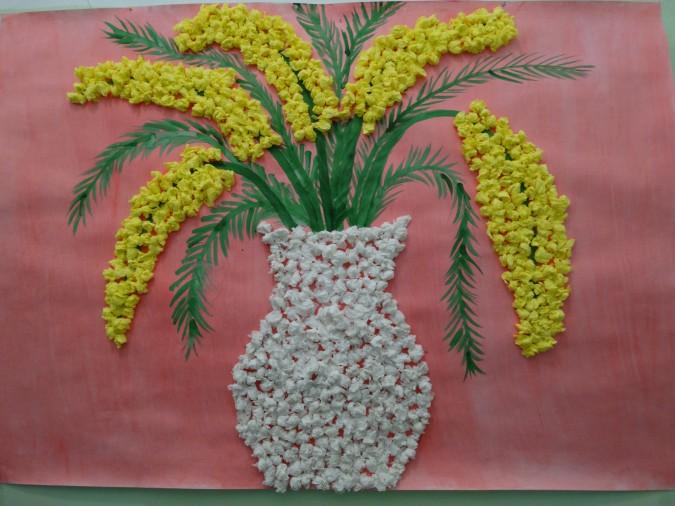 цветы из бумажных салфеток идеи