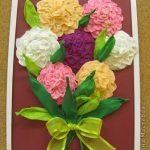 цветы из бумажных салфеток варианты