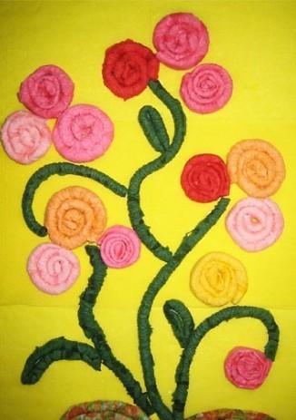 цветы из бумажных салфеток фото идеи