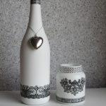 декор бутылок своими руками фото