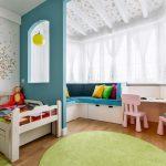 Дизайн комнаты с эркером для малыша