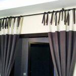Двухцветные шторы с интересными завязками