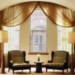 Единые шторы для тройных высоких и узких окон