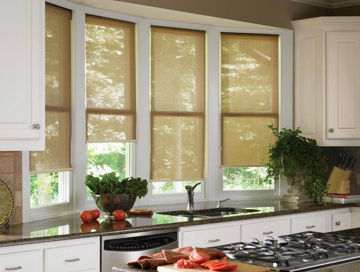 электрические шторы на кухне