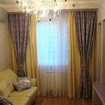 Фото двойных штор в маленькой гостиной