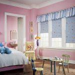 Ламбрекен на окнах с рулонными шторами