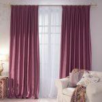 Плотные шторы из темной ткани