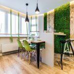 Дизайн кухни в эко стиле с деревянным полом