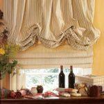 Занавески в воланами и римская штора