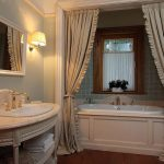 Интерьер ванной комнаты в стиле классики