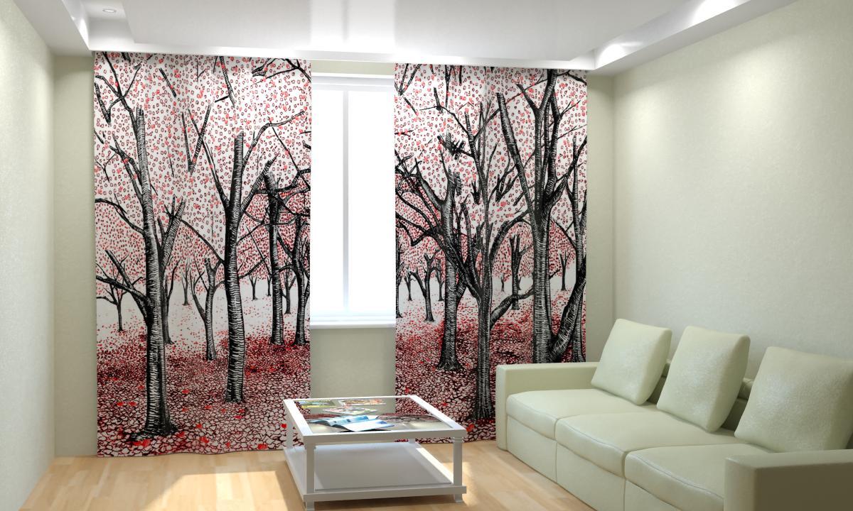японские шторы в гостиной