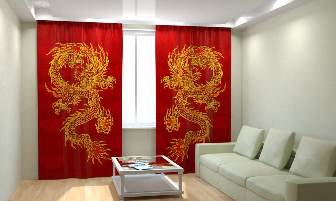 шторы в китайском стиле