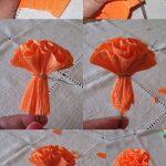 гвоздики из салфеток своими руками фото оформление