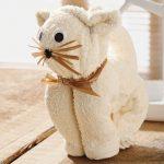 игрушки из полотенца котик