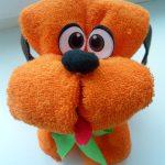 игрушки из полотенца пёс