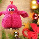 игрушки из полотенца птичка