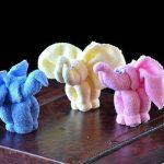 игрушки из полотенца слоники