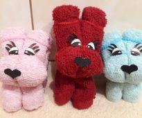 игрушки из полотенца собаки
