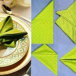 как сложить салфетки для оригинальной сервировки стола декор