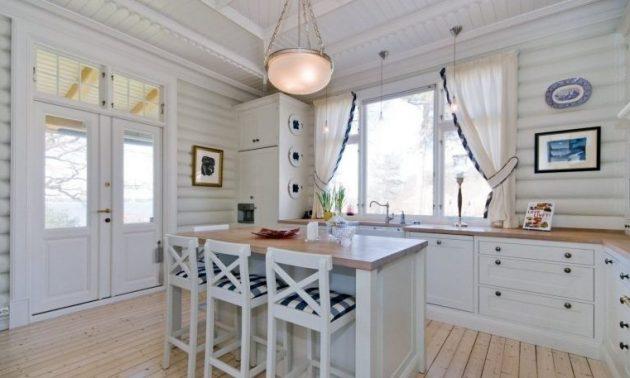 какой должна быть длина штор на кухне