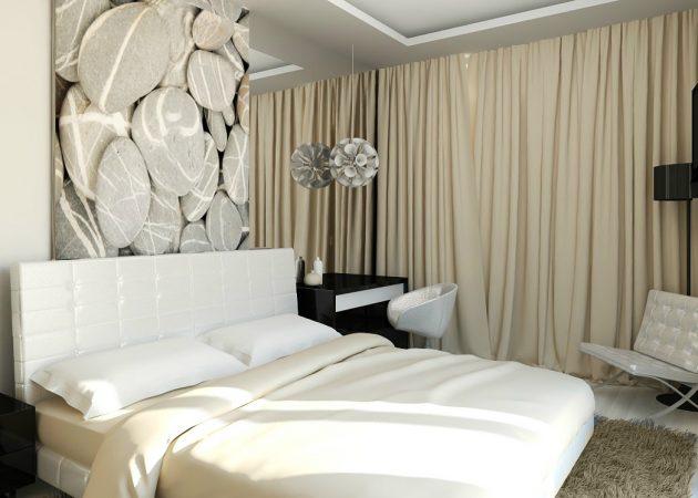длина штор в спальне идеи