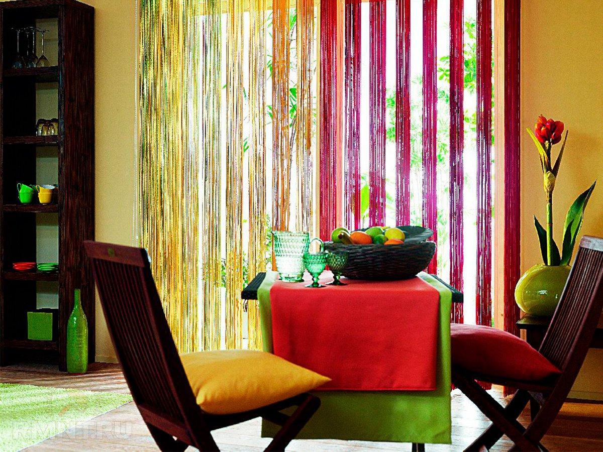 кисейные шторы в гостиной
