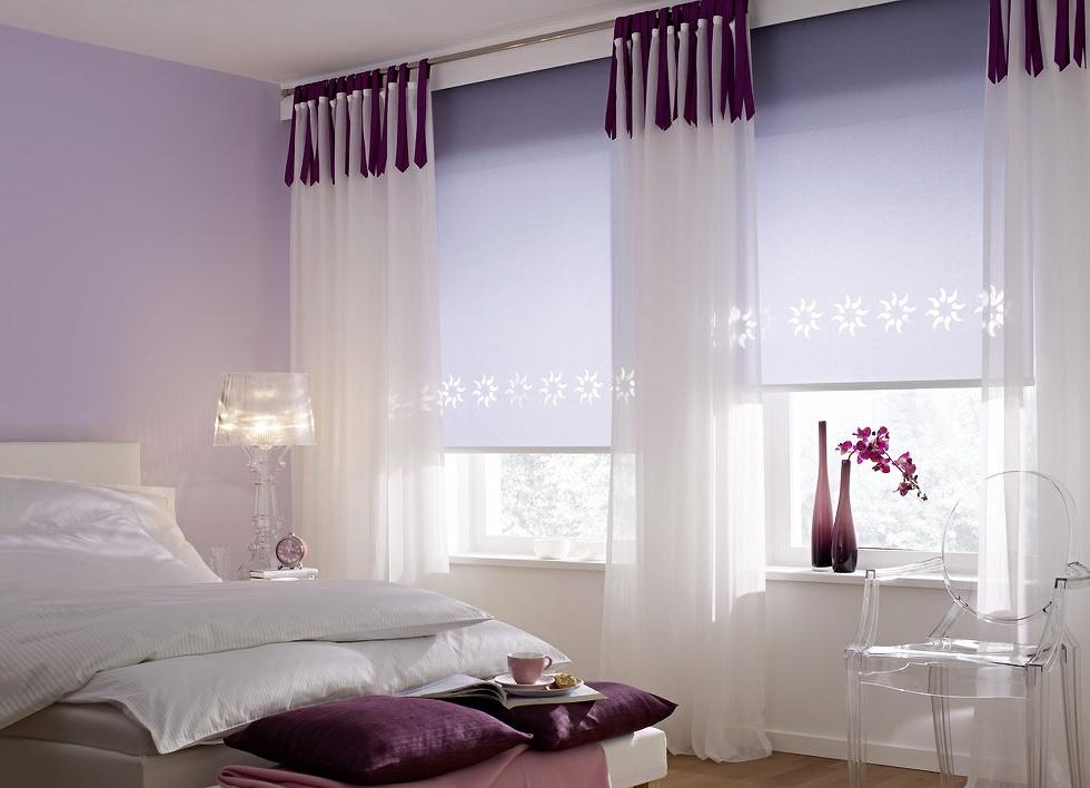 короткие шторы до подоконника в спальню идеи интерьера