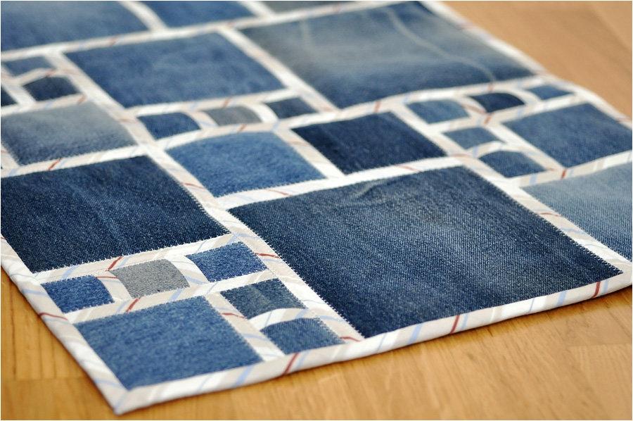 коврик из лоскутов джинса