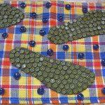 детский массажный коврик для ног из пуговиц
