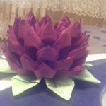 лотос из салфеток декор фото