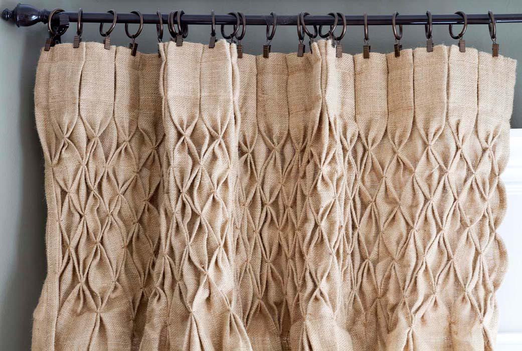 мешковина шторы дизайн идеи