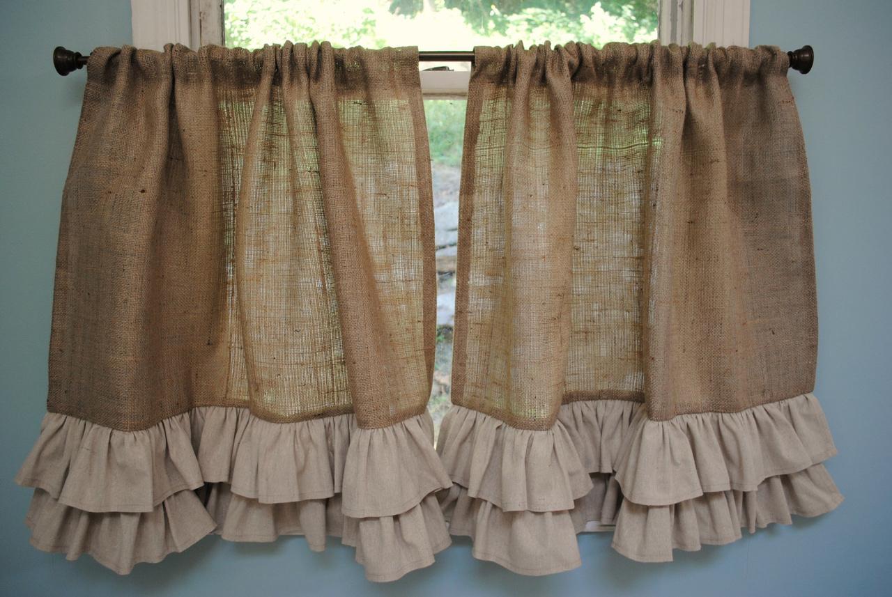 мешковина шторы дизайн