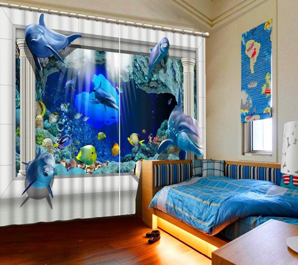 детские шторы подводный мир