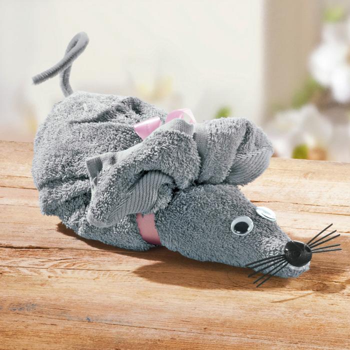 мышь из полотенец