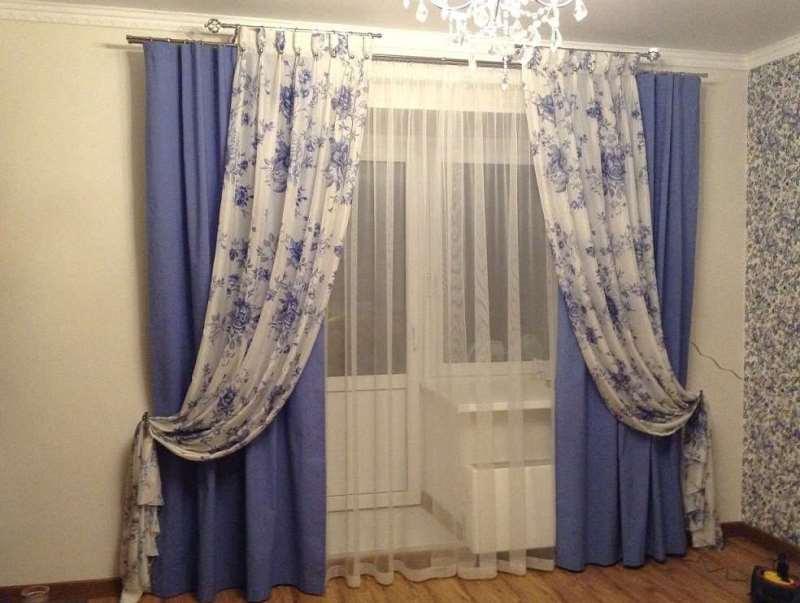 шторы из вуали на дополнительном карнизе