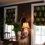 Необычные римские шторы для кабинета