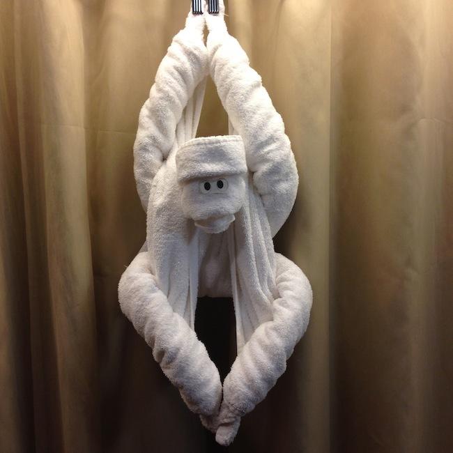 обезьяна из полотенец