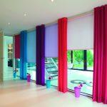 красивые шторы в квартире разноцветные