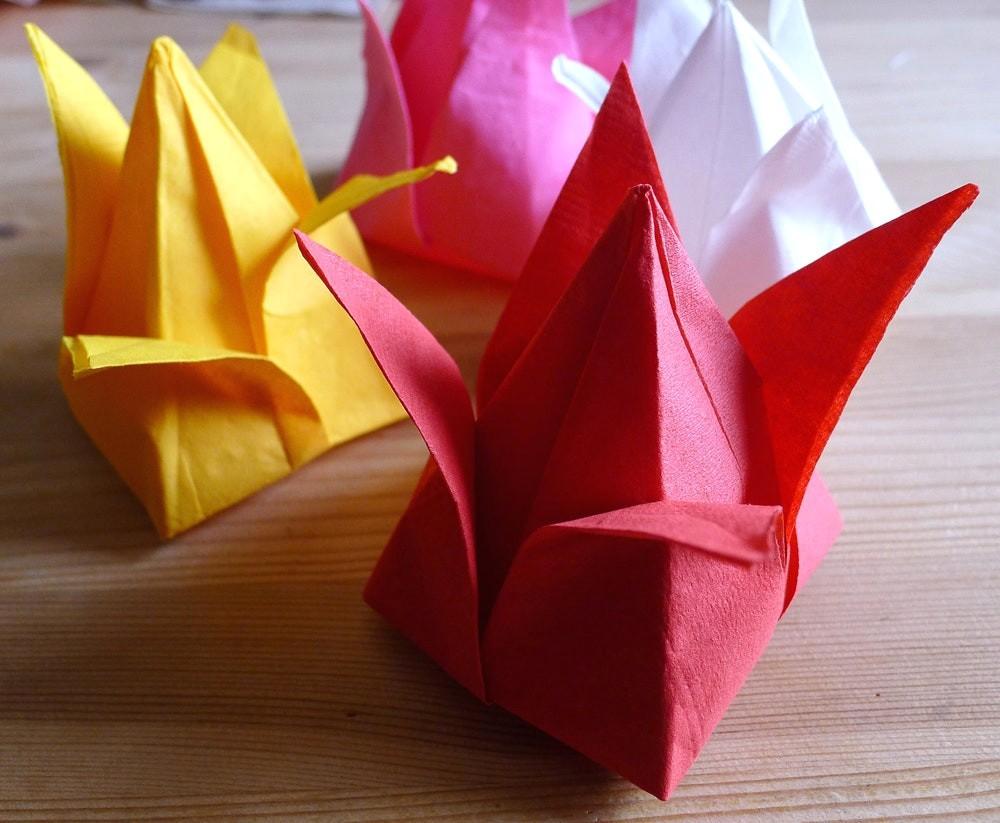 оригами ирисы
